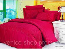 Комплект жаккардового постельного белья Le vele beatrice-burgundy