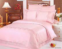 Комплект жаккардового постельного белья Le vele beatrice pink