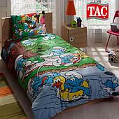 Яркое постельное белье Тас со Смурфиками