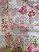Красивое летнее одеяло в цветы с лазерной стежкой