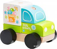 """Машина """"Ексаресс - мороженое """", деревянная, в корПР007710см.,Украина, ТМ CUBIKA (Левеня)"""
