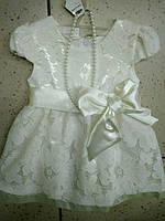 Детское очень красивое платье с бусами для девочки 92