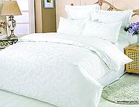 Семейный жаккардовый комплект постельного белья Le Vele rhapsody-white