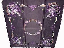 Стильная атласная фиолетовая  Новогодняя Салфетка 85-85 см