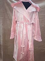 Полегшений махровий бамбуковий халатик ніжно рожевого кольору