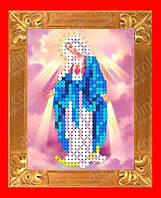 """Схема, частичная вышивка бисером, габардин, """"Дева Мария Непорочного Зачатия"""""""