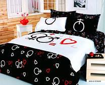 Комплект постельного белья Le vele полуторный Man&Woman