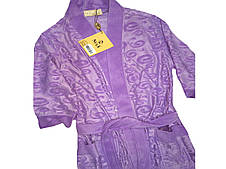 Коротенький  женский халатик Nusa лилового цвета