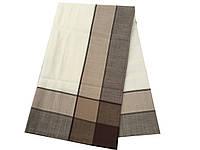 Стильная однотонная скатерть с шоколадной каймой 140-220 см, фото 1