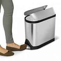 Ведро мусорное с педалью 10л Simplehuman (Великобриания) ведро для мусора