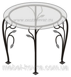 Кованый   стол со столешницей 25
