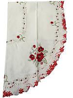 Скатерть атласная  с вышивкой  130-180 см