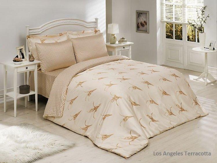 Комплект постільної білизни Le Vele bamboo series Los Angeles (teraccota)