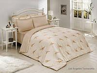 Комплект постільної білизни Le Vele bamboo series Los Angeles (teraccota), фото 1