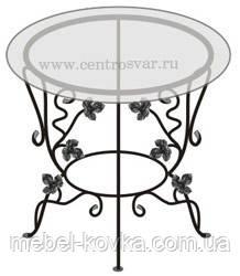 Кованый   стол со столешницей 26