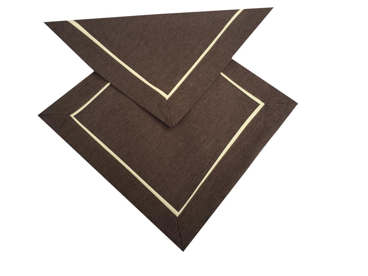 Сервірувальна однотонна серветка 30-30 см шоколадного кольору