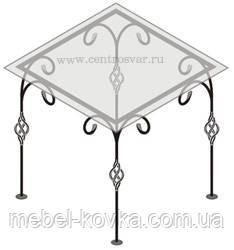 Кований стіл зі стільницею 27