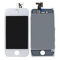 Дисплей (LCD) iPhone 4S с сенсором белый