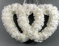 Свадебная подвеска Два сердца