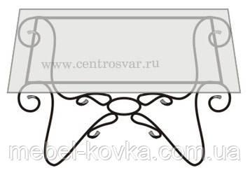 Кованый   стол со столешницей 33