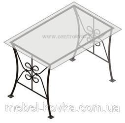 Кованый квадратный  стол со столешницей 34