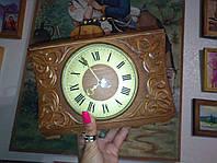 Часы настольные механические раритет Дерево