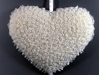 Украшение зала на свадьбу Сердце в розах