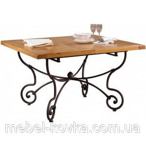 Кованый стол с деревянной столешницей42
