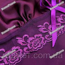 Женская ночная рубашка фиолетового цвета., фото 2