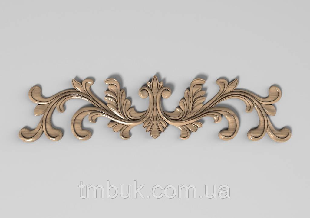 Горизонтальный декор 69 деревянная накладка - 285х70 мм