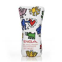 Мастурбатор Tenga Keith Haring Soft Tube Cup (мягкая подушечка) сдавливаемый