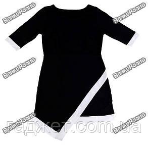 Асимметричное платье черного цвета. Размер Хl, фото 2