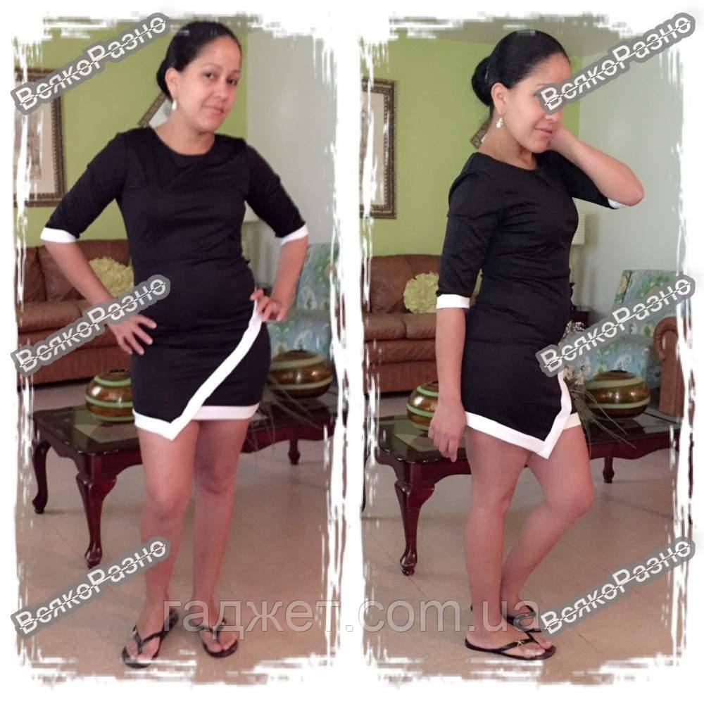 Асимметричное платье черного цвета. Размер Хl
