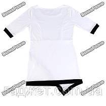 Асимметричное платье белого цвета. Размер L. Женское платье, фото 3