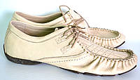 Туфли мужские летние кожаные OK-7250 (молоко)