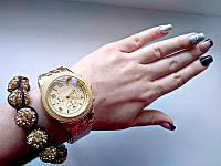 Женские наручные часы под золото mk  (реплика)