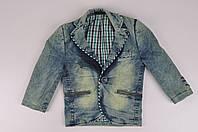 Пиджак джинсовый для мальчика Robartino NHT0502 Рост:86,98