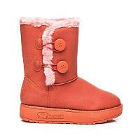 01-19 Розово-оранжевые женские угги 608-5OR / D3-L45