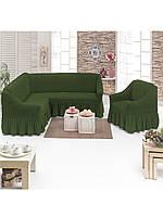 Чехол на стандартный угловой диван и 1 кресло ТМ Demfirat Karven Турция