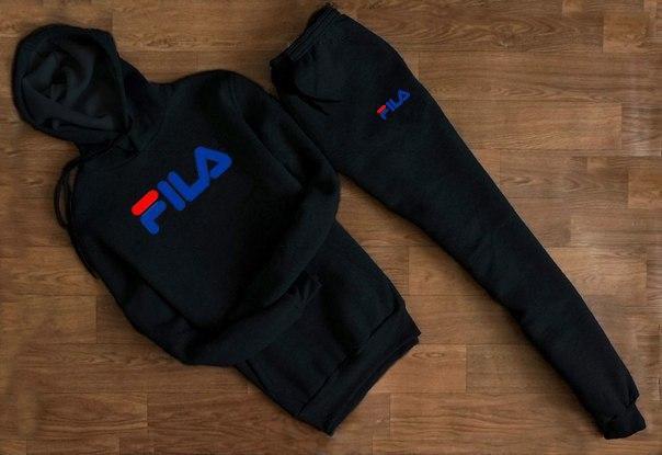 Весенний спортивный костюм Fila с сине-красным логотипом топ реплика -  Интернет-магазин обуви 55af6c2fe2a