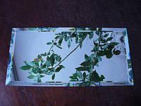 Зеркальная плитка зеленая, бронза, графит 150*150 фацет 15мм, фото 1