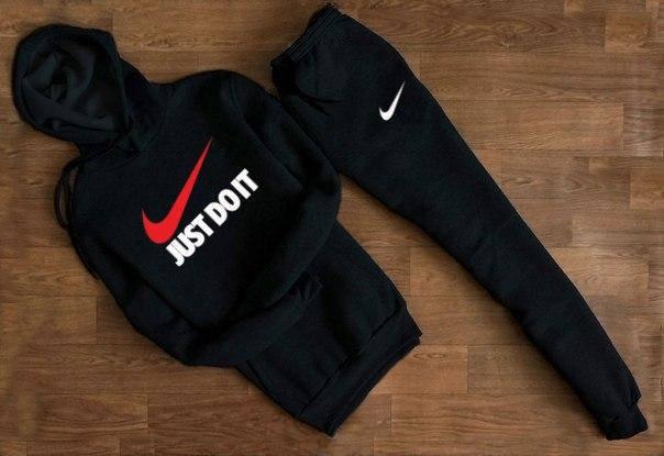Весенний спортивный костюм  Nike Just Doit топ реплика, фото 2