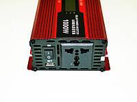 Инвертор преобразователь напряжения Power Inverter UKC 1000W KC-1000D с LCD дисплеем, фото 2