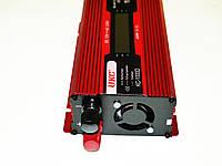 Инвертор преобразователь напряжения Power Inverter UKC 1000W KC-1000D с LCD дисплеем, фото 3