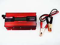 Инвертор преобразователь напряжения Power Inverter UKC 1000W KC-1000D с LCD дисплеем, фото 4