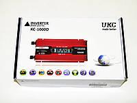 Инвертор преобразователь напряжения Power Inverter UKC 1000W KC-1000D с LCD дисплеем, фото 5