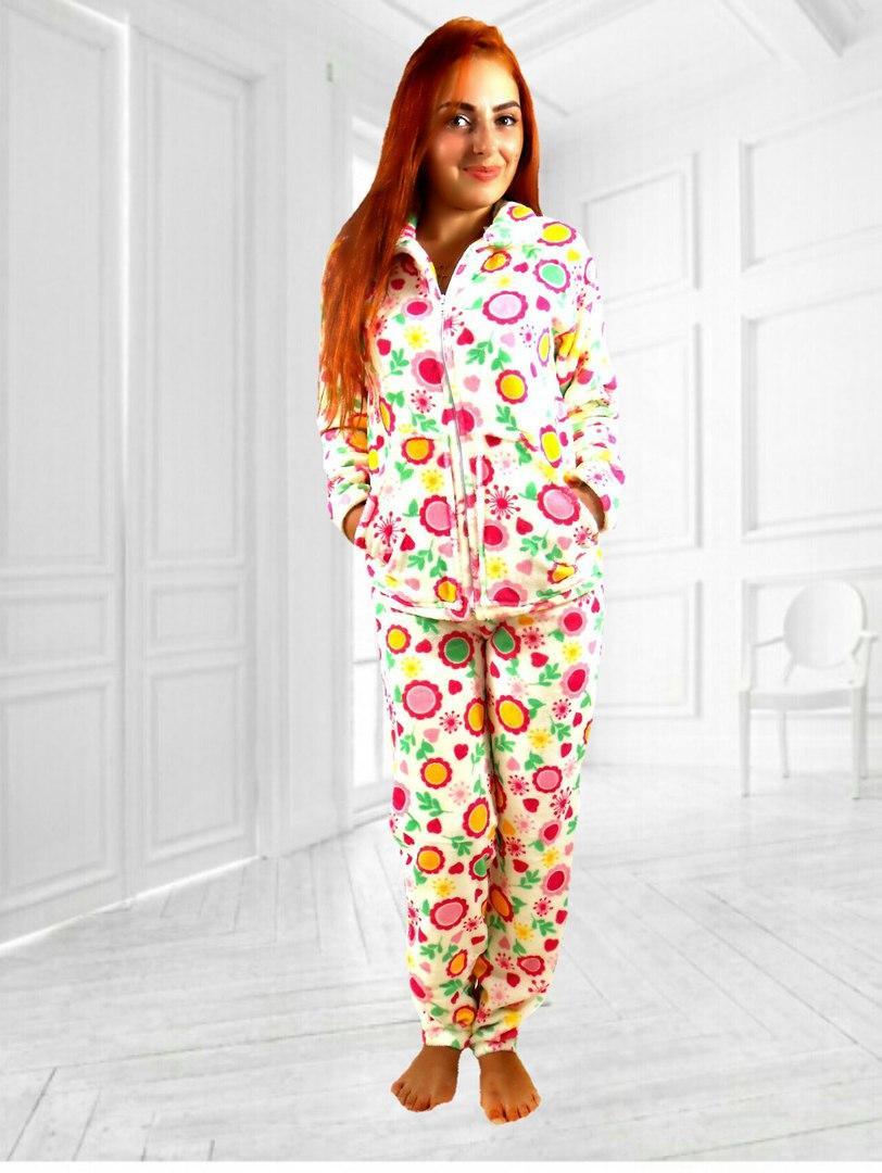 Домашний теплый и мягкий костюм пижама (больш.размеры) - Интернет-магазин