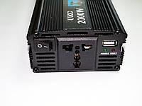 Инвертор преобразователь напряжения Power Inverter UKC 12V-220V 2000W Black, фото 2