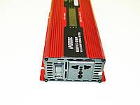 Инвертор преобразователь напряжения Power Inverter UKC 2000W KC-2000D с LCD дисплеем, фото 2