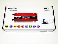 Инвертор преобразователь напряжения Power Inverter UKC 2000W KC-2000D с LCD дисплеем, фото 5